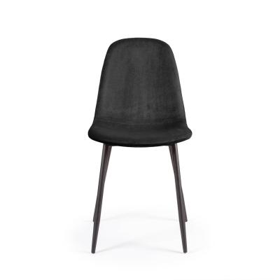 Bilde av Cue stol fløyel, svart