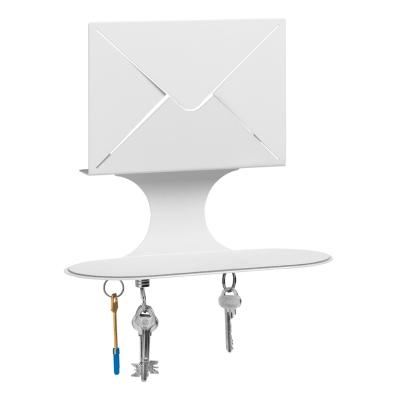 Letter nøkkelhylle, hvit
