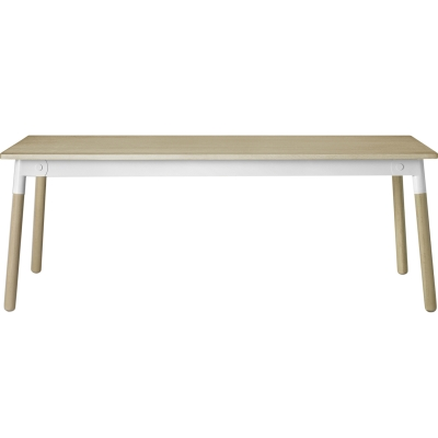 Adaptable bord, eik/hvit/eik