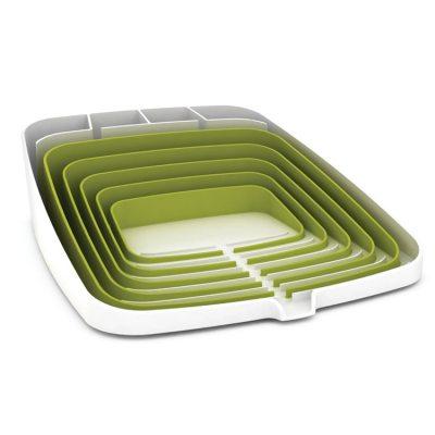 Arene vaskestativ, hvit/grønn