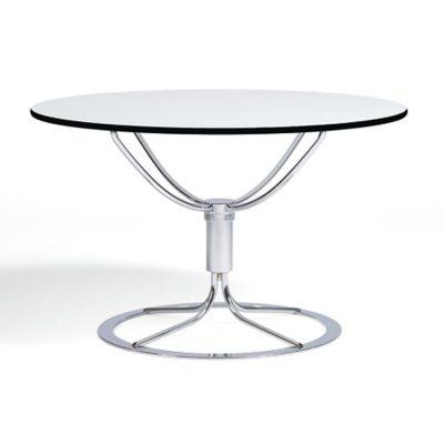 Jetson bord ø80 hvit laminat/krom