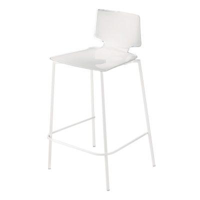 Bilde av Casa barstol, hvit/hvite ben