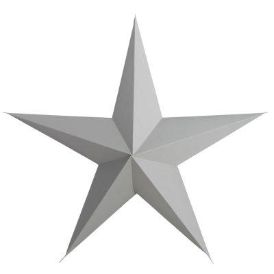 5 Point stjerne 45 cm, grå