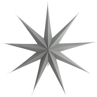 9 Point stjerne 87 cm, grå