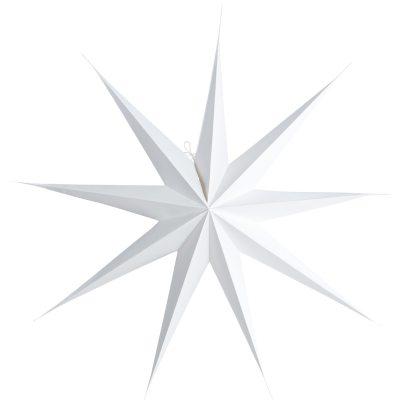 9 Point stjerne 87 cm, hvit
