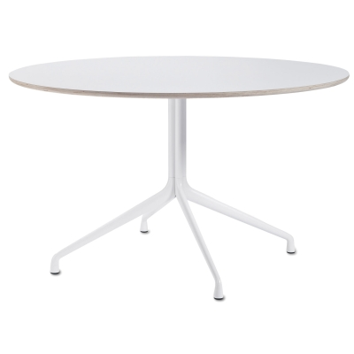 About a Table 10, Ø130, hvit/hvit