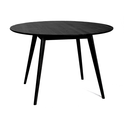 Nordik spisebord, svart/ask