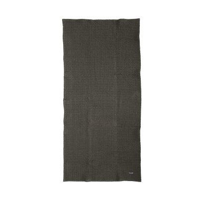 Chequered håndkle, grå