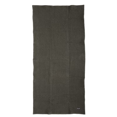 Chequered badehåndkle, grå