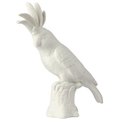 Cockatoo statue, hvit