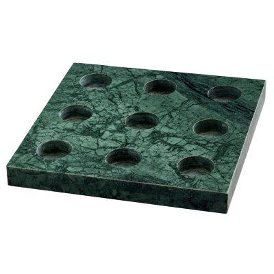 9 T-lysestake, grønn marmor