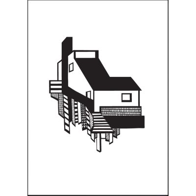A House poster A3, svart/hvit