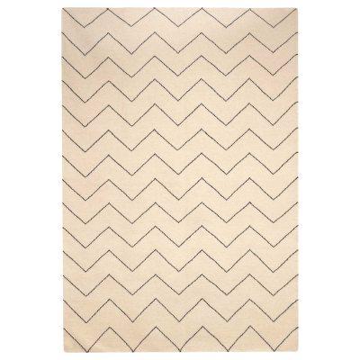 Zigzag teppe 230x320, offwhite/indigo