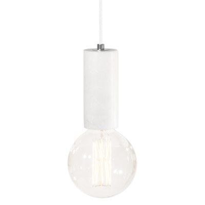 Marble taklampe, hvit marmor