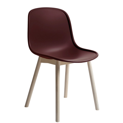 Neu 13 stol, vinrød/ask
