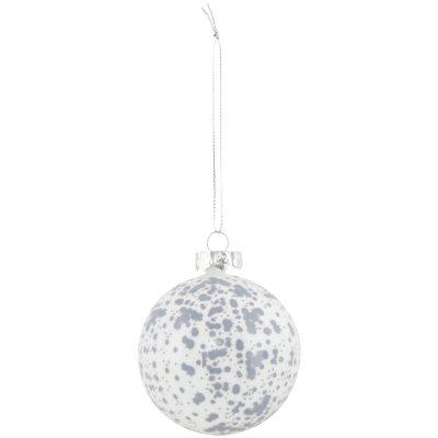 Spot ornament, hvit/sølv