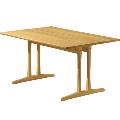 C18 bord 180x90 cm, lakkert bøk