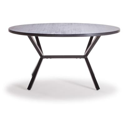 Loft sofabord Ø90 cm, svart