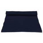 Cotton teppe med kant, deep ocean blue