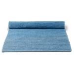 Cotton teppe med kant, eternity blue
