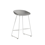 About a Stool 38 barstol h65, betong/hvit