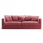 Le Grand Air 3-setersofa, Rosewood Linen