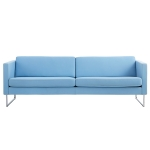 Madison 3-pers sofa uten knapper, blå