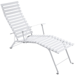 Bistro Chaise Longue, cotton white
