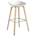 About a Stool h75, hvit/eikben