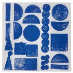 Stamp servietter, blue