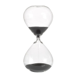 Ball timeglass M, svart