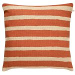 Block Stripe putetrekk, orange/beige