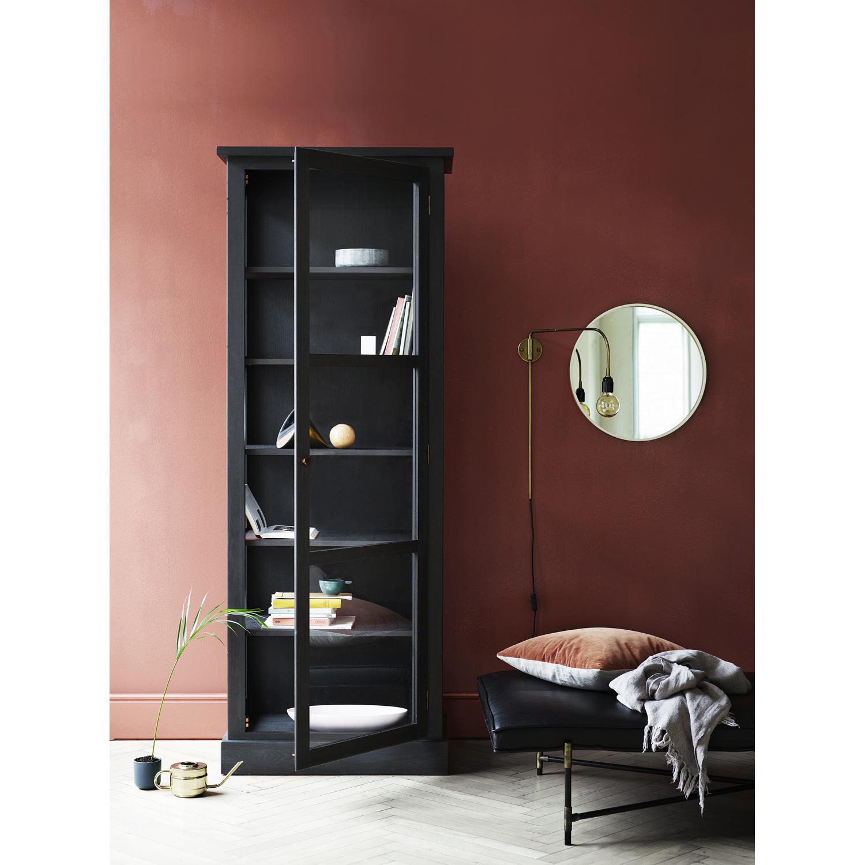 Vitrineskap N1, mørk eik – Lindebjerg Design – Kjøp møbler online ...
