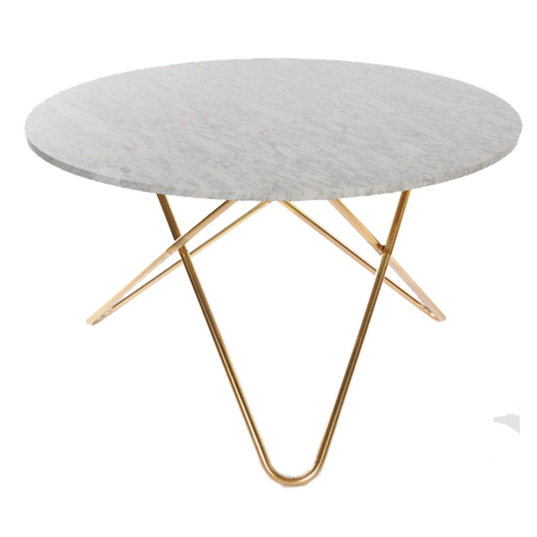 Big o bord, hvit marmor/messing – ox design – kjøp møbler online ...