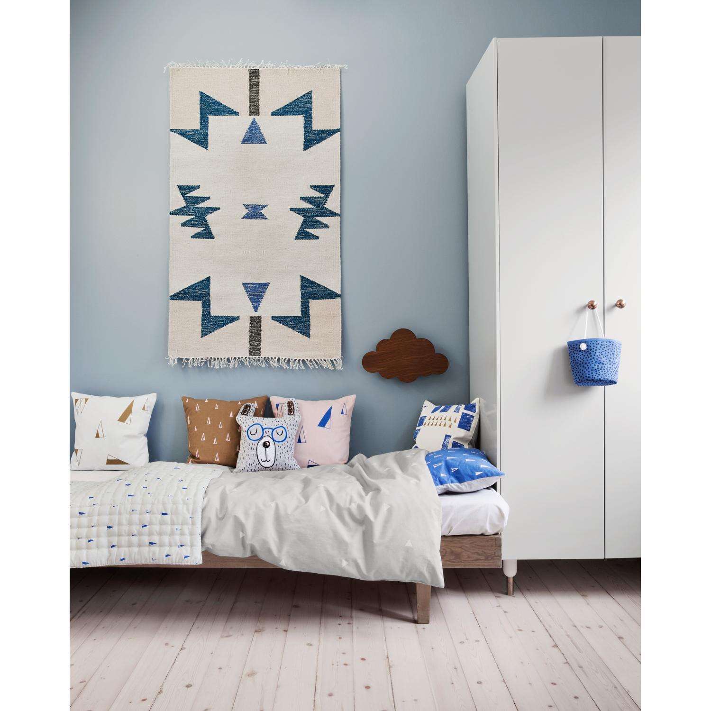Kelim teppe S, blue triangles – Ferm Living – Kjøp møbler online ...