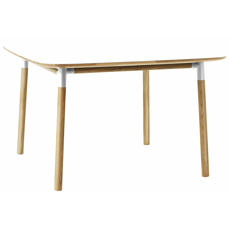 Form Table 120x120, hvit/eik – Normann Copenhagen – Kjøp møbler ...