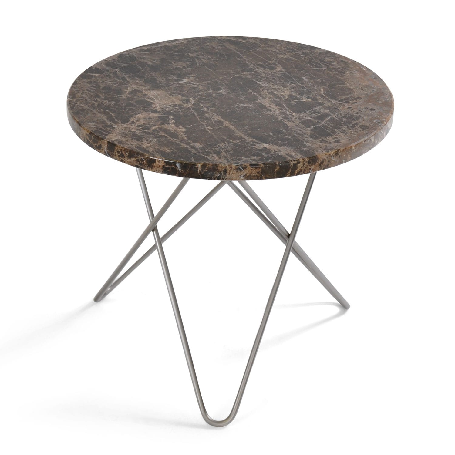 Picture of: Mini O Table Sidebord O40 Cm Stal Brun Marmor Ox Denmarq Rum21 No