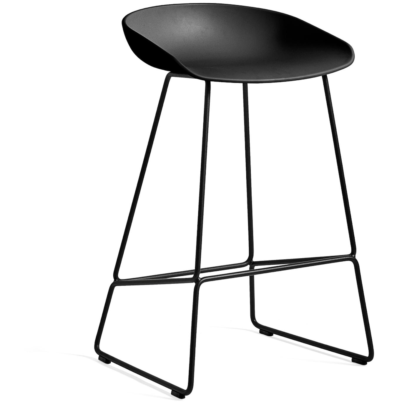 Bar Stool Without Backrest, BlackBlack Velvet