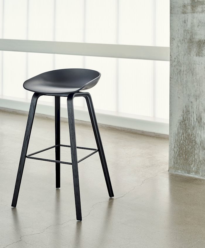 About A Stool 32 Barstol Lav, SortSort Hay @ Rum21.no